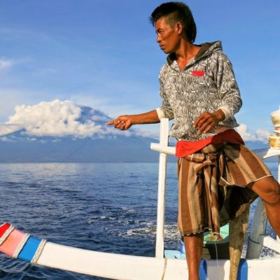 rybář na bali