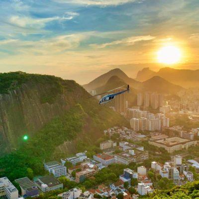 vrtulník v Rio de Janeiru