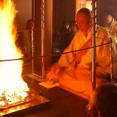 Budhistický mnich v Tokiu