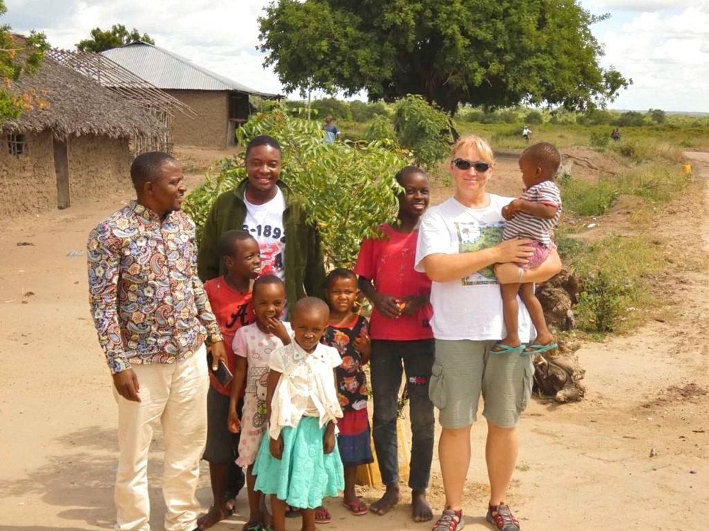 Místní vesničané na Zanzibaru