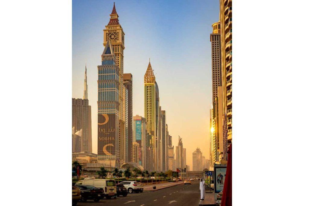 ulice v Dubaji