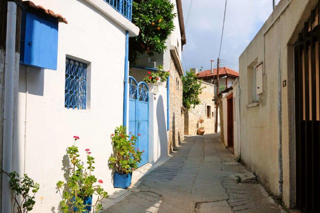 typické domy Kypru