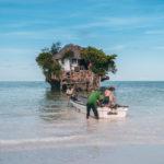 Restaurace The Rock na jihu Zanzibaru