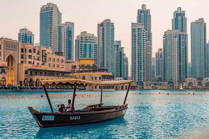 Cestování do Dubaje, staré město a nové město