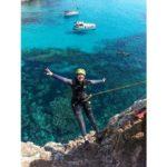 Mallorca slaňování z útesu